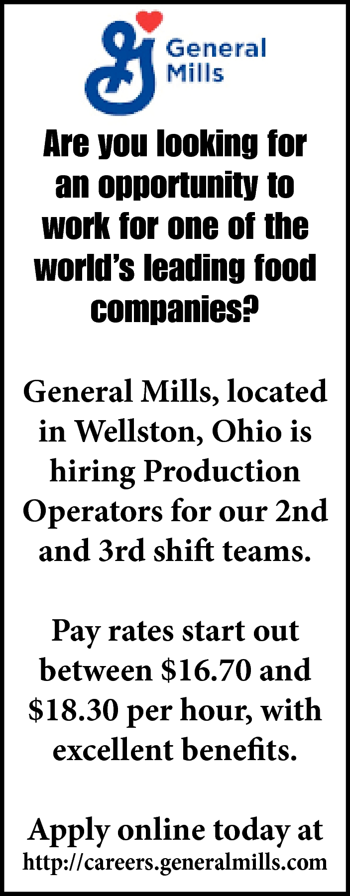 Is Hiring Production Operators
