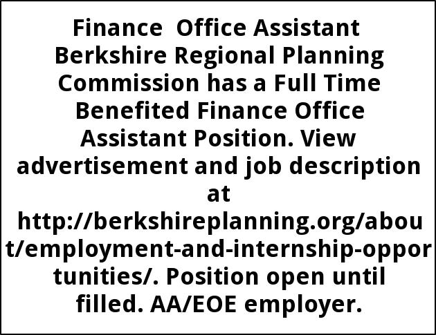 Finance Office Assistant