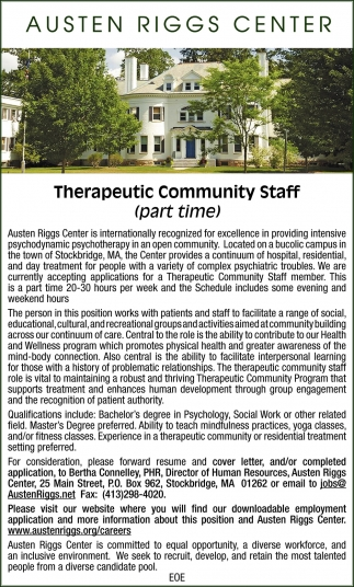 Therapeutic Community Staff