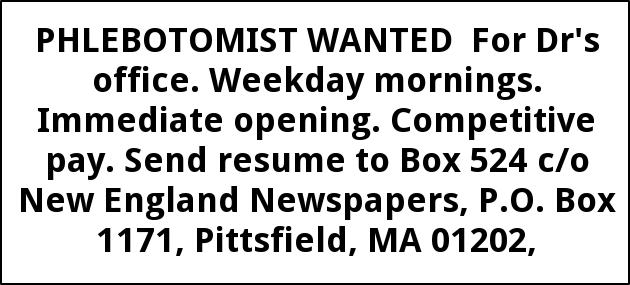 Phlebotomist Wanted