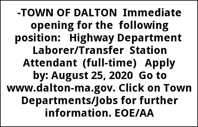 Highway Department Laborer / Transfer Station attendant