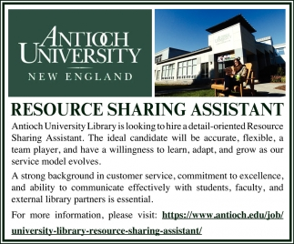 Resource Sharing Assistant