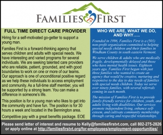 Full Time Direct Care Provider