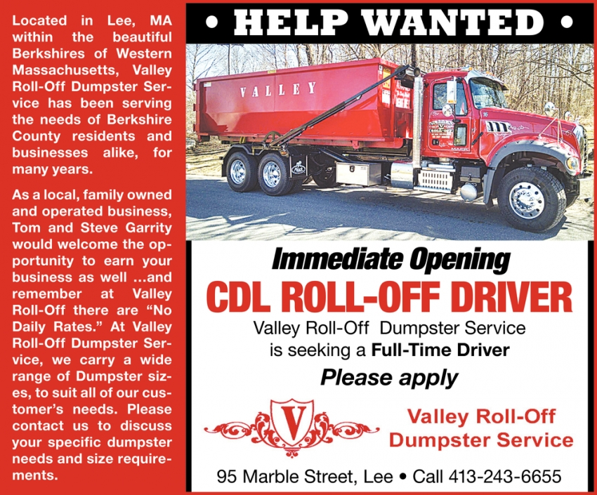 CDL Roll-Off Driver