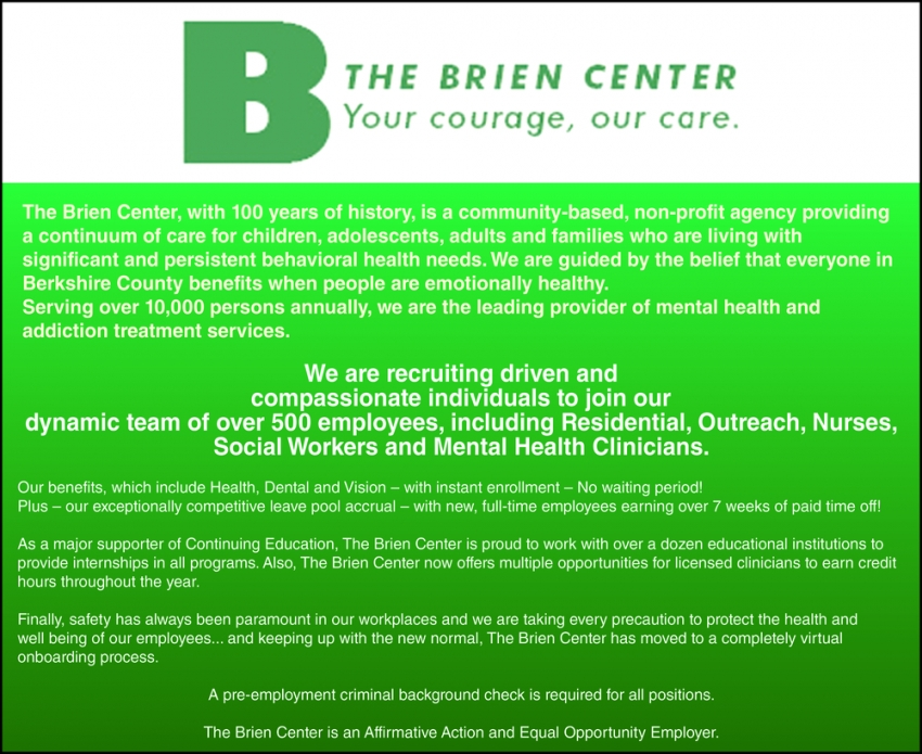 We Are Recruiting Driven and Compassionate Individuals to Join Our Dynamic Team of Over 500 Employees