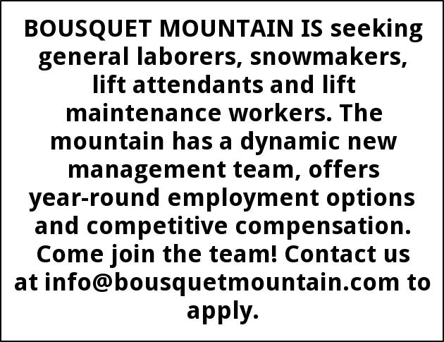 General Laborers, Snowmakers, Lift Attendants and Lift Maintenance Workers