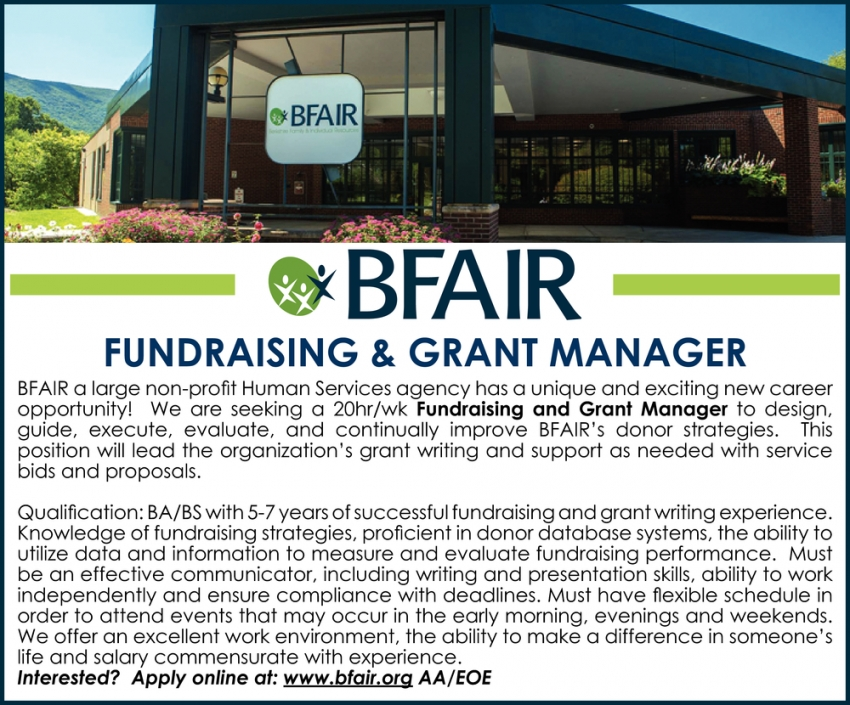 Fundraising & Grant Manager