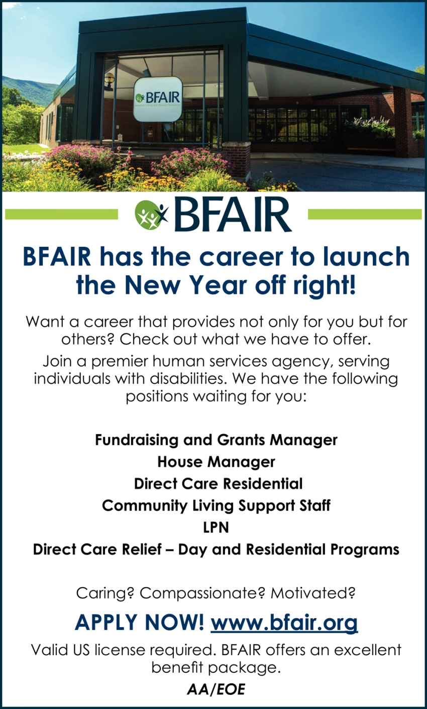 BFAIR Has the Career to Launch the New Year Off Right!