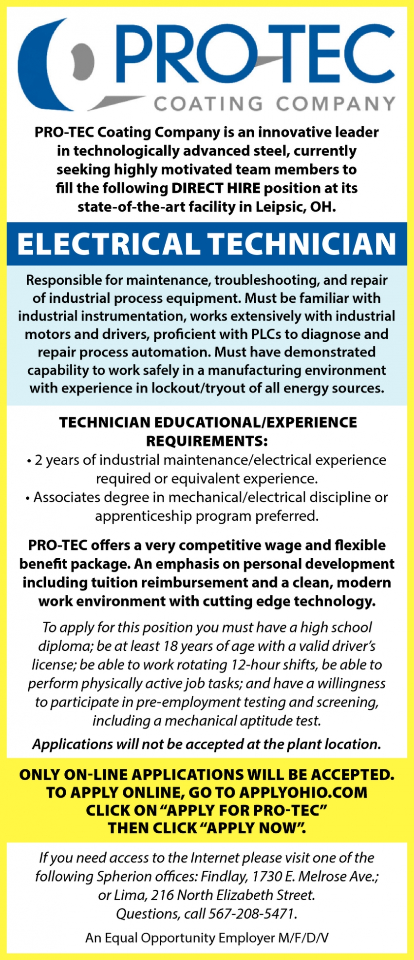 Electrical Technician Wanted