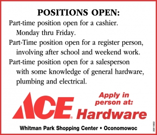 Positions Open