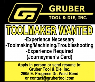 Toolmaker Wanted