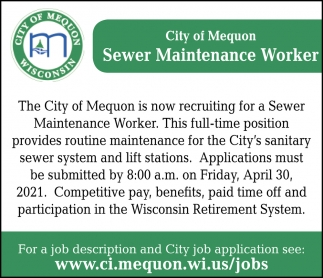 Sewer Maintenance Worker