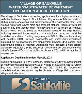 Operator / Laborer Position