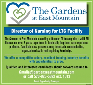 Director of Nursing for LTC Facility