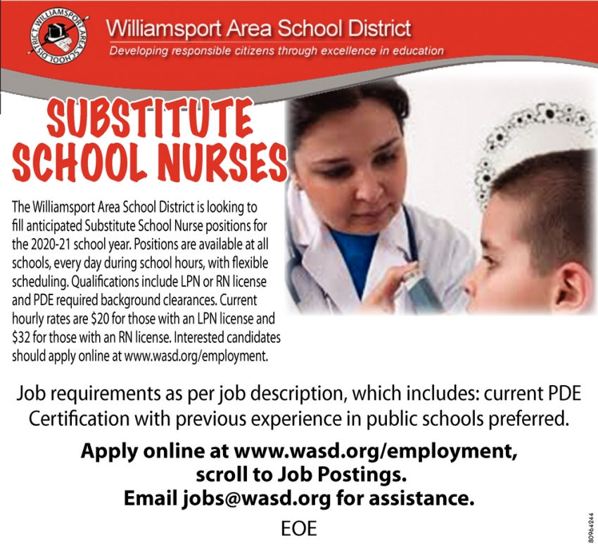 Substitute School Nurses
