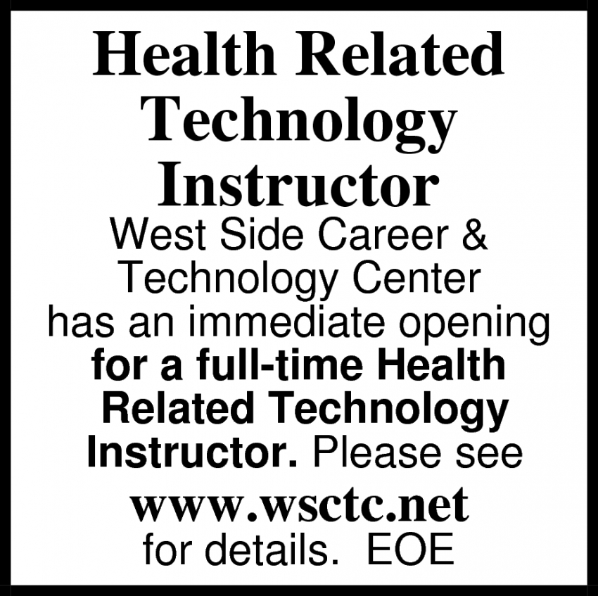 Health Technology Instructor