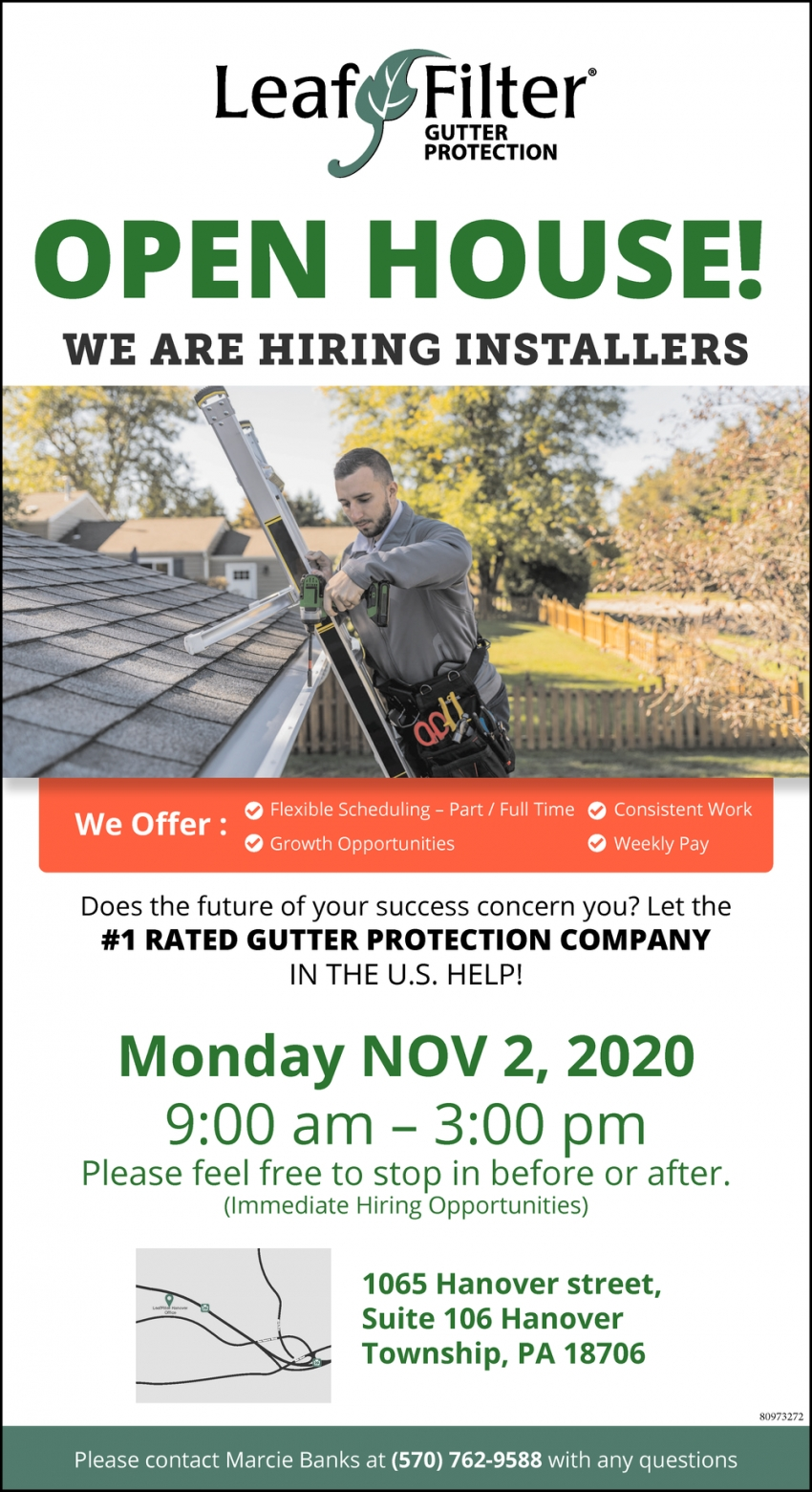 We are Hiring Installers