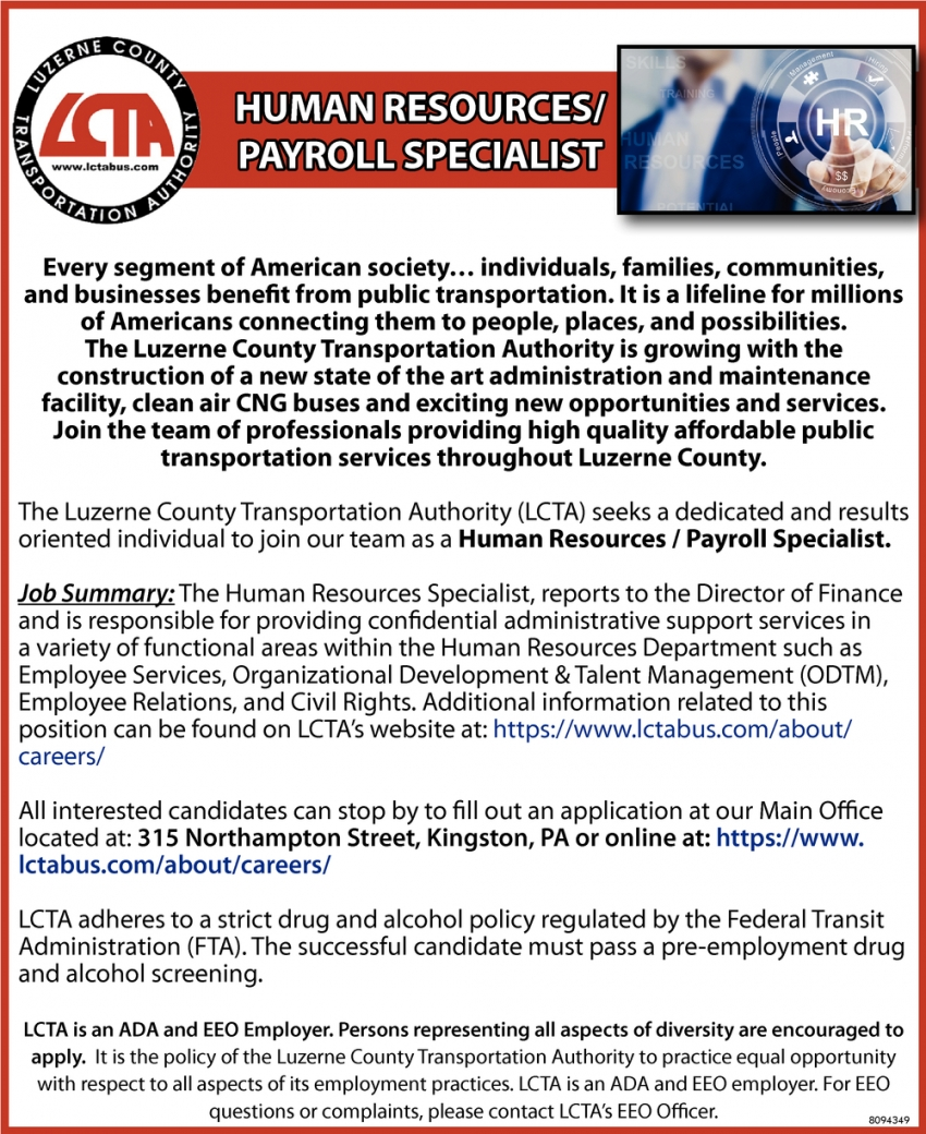 Human Resources / Payroll Specialist