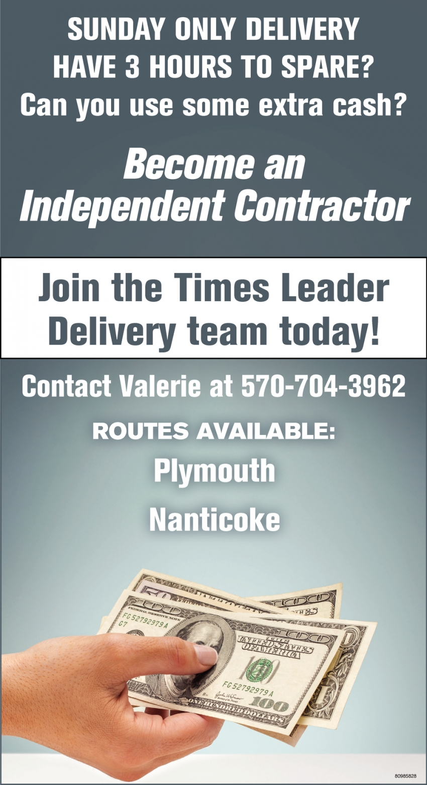 Join the Times Leader Delivery Team Today!
