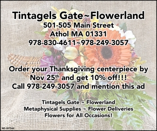 Order Your Thanksgiving Centerpiece By Nov 25th And Get 10% Off!!