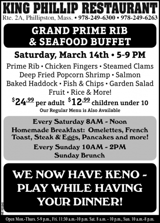 Grand Prime Rib & Seafood Buffet