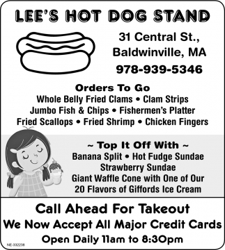 Call Ahead For Takeout