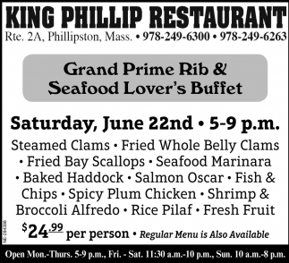 Grand Prime Rib & Seafood Lover Buffet