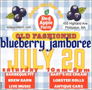 Old Fashioned Blueberry Jamboree July 20