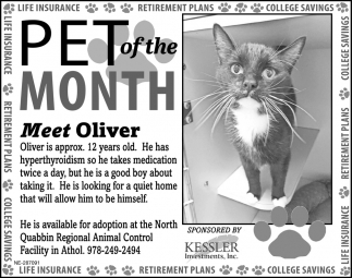 Pet Of The Month