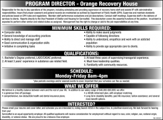 Program Director Needed