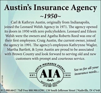 See Us For All Your Insurance Needs