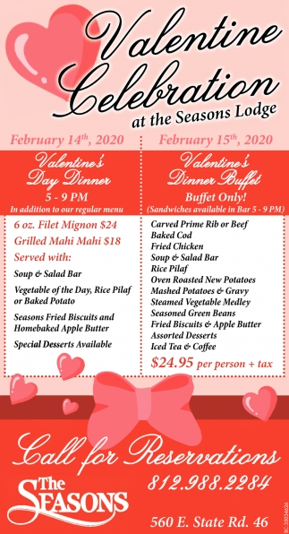 Valentine Celebration At The Seasons Lodge
