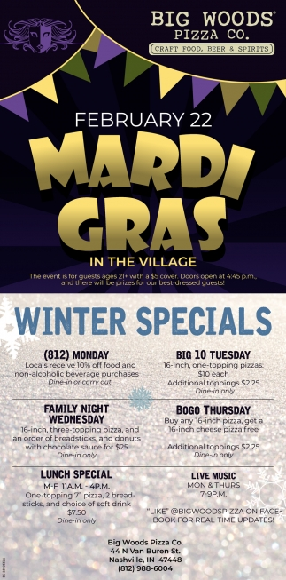 February 22 Mardi Grass In The Village