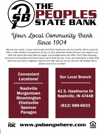 Your Local Community Bank Since 1904