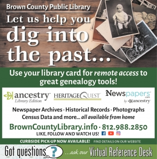Let Us Help You Dig Into The Past...