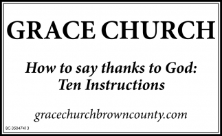 How To Say Thanks To God: Ten Instructions
