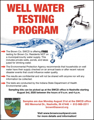 Well Water Testing Program