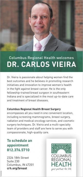 Welcomes Dr. Carlos Vieira
