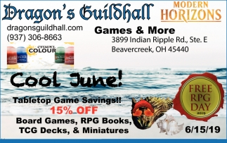 Cool June! - Tabletop Game Savings! 15% Off