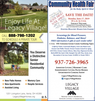 Community Health Fair June 17