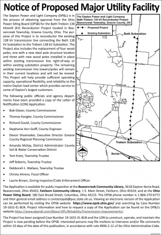 Notice of Proposed Major Utility Facility