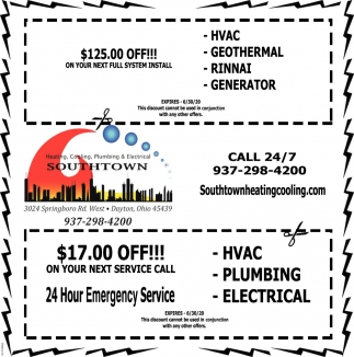 Heating, Cooling, Plumbing & Electrical