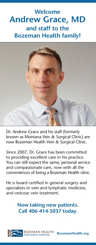Welcome Andrew Grace, MD