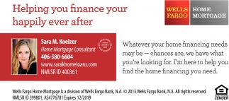 Helping you Finance Your Happily Ever After