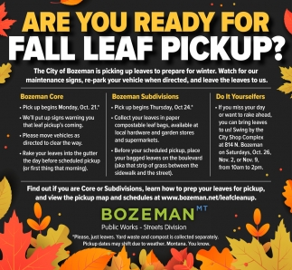 Are you Ready for Fall Leaf Pickup?