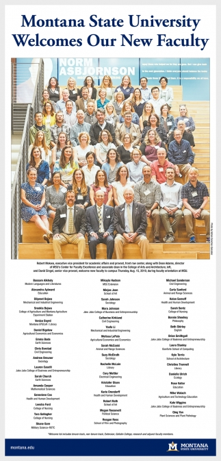 Welcomes Our New Faculty