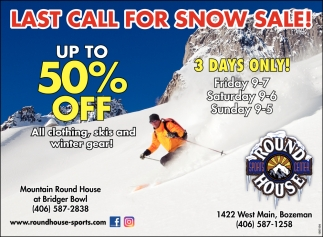 Last Call for Snow Sale