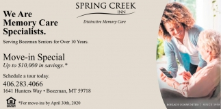 We Are Memory Care Specialists