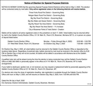 Notice of Election for Special Purpose Districts