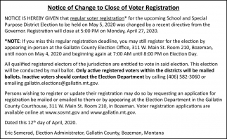 Notice of Change